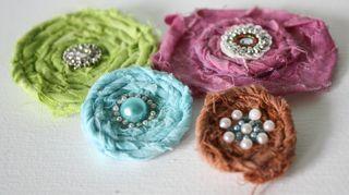 Fabric flower tutorial + video (Melissa Samuels)