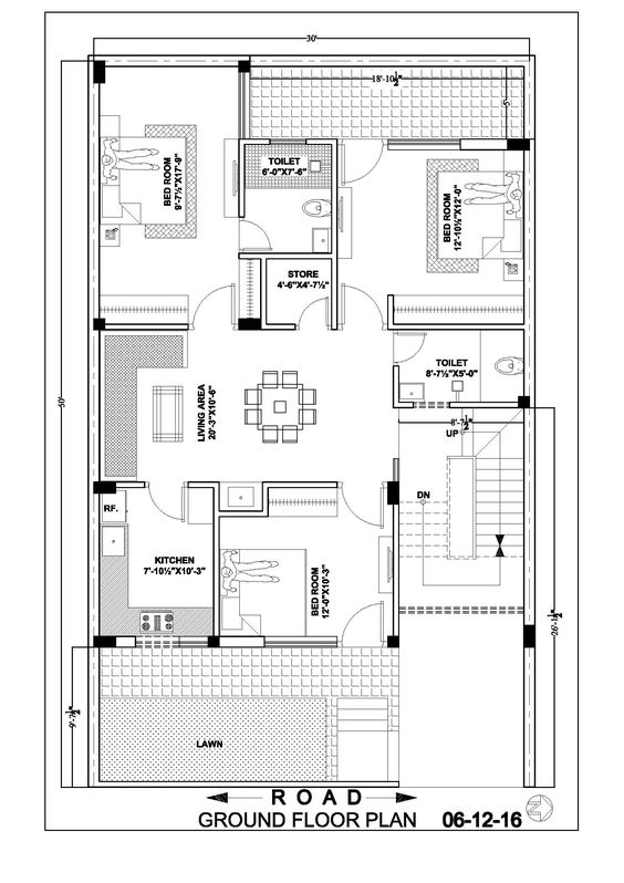 30 50 Ground Floor Plan House Pinterest 30x50 House