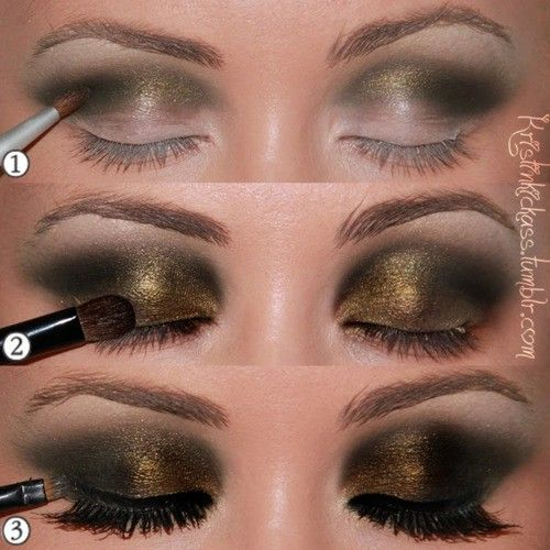 Bronze twist on a smokey eye