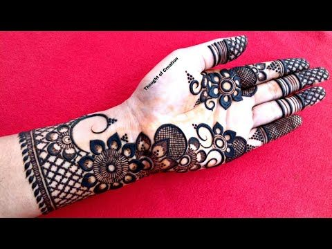 One Side Floral Stylish Mehndi Design For Front Hand Thought Of Creation Youtube Stylish Mehndi Stylish Mehndi Designs Mehndi Designs For Kids