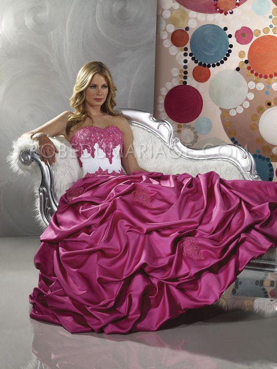 Robe de mariage en couleur pas cher bustier sur mesure for Robes sans bretelles pour les mariages