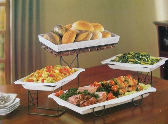 4 Tier Buffet Server With Removable Plates Buffet Italian Buffet Buffet Server
