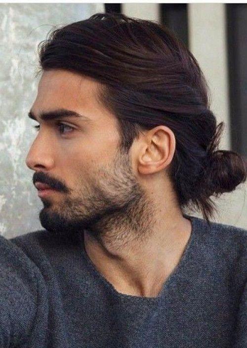 15 Mens Long Hairstyles With Low Bun Job Beard 2018 Pics Bucket Men S Long Hairstyles Long Hair Styles Men Long Hair Styles