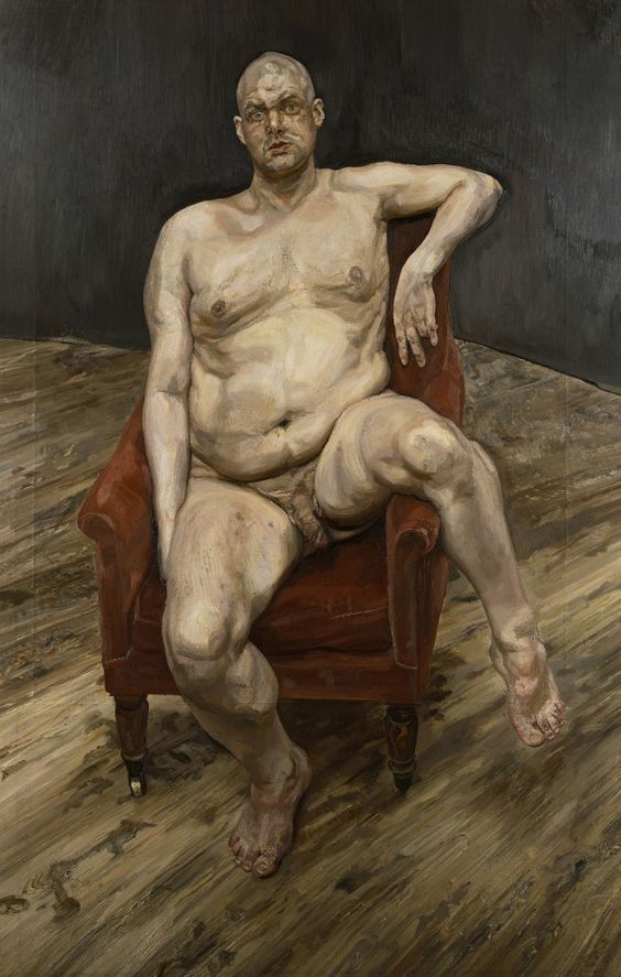 Leigh Bowery portrayed by Lucian Freud, superb