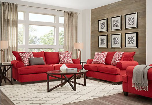 Picture Of Emsworth Scarlet 5 Pc Living Room From Living Room Sets
