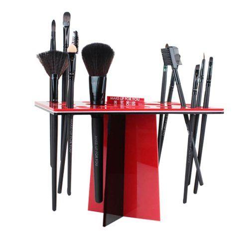 Organizador acrilico de brochas de maquillaje profesional en mercadolibre make up - Organizador profesional ...