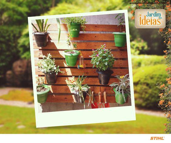 Este modelo de jardim vertical foi enviado pela Maricelia Pereira.