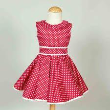 Resultado de imagen para vestidos de lunares de niña