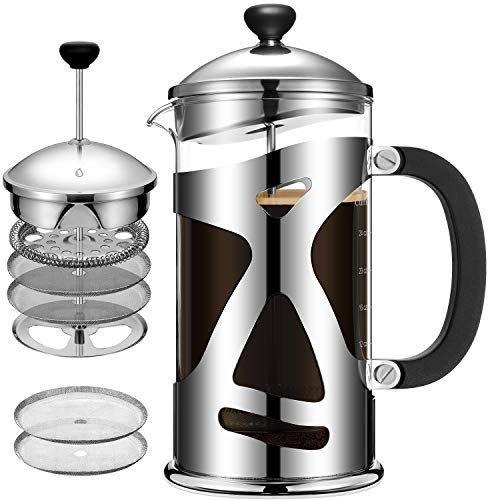 Cumbor French Press Coffee Maker 34oz Durable Stainless Https