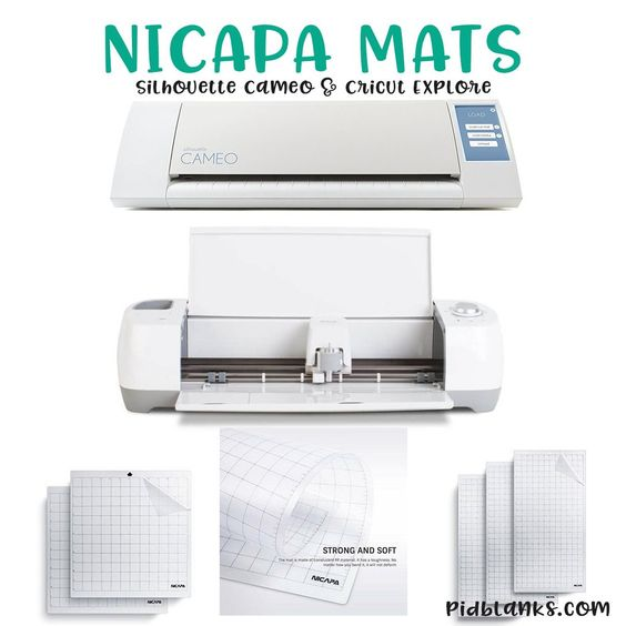 Nicapa Mats For Silhouette Cameo And Cricut Explore Cricut Explore Cricut Cameo