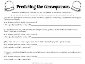 Printables Choices And Consequences Worksheet and consequences worksheet davezan choices davezan
