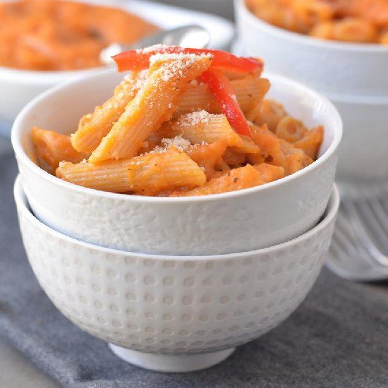 Creamy Butternut Squash Pasta Sauce with tomato and ...