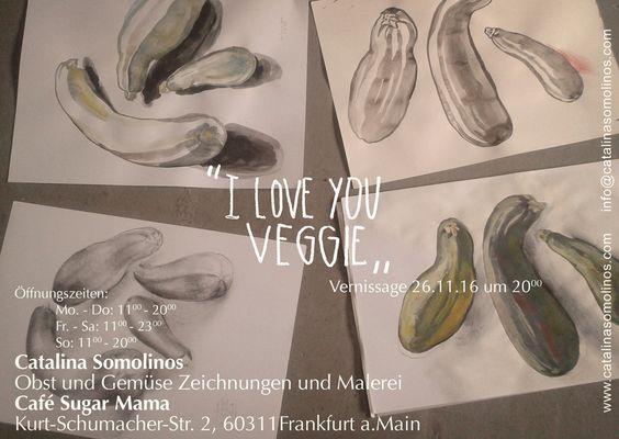 http://ift.tt/2gIh8Lz I LOVE YOU VEGGIE ab morgen gehts los! nicht verpassen! #Obst und #Gemüse #Malerei und #Zeichnungen #Vernissage Sa. 26/11 in #cafesugarmama #veggies #vegan #vegetarian #vegetable #frankfurtamMain #kulturprogramm #eventsfrankfurt #kunstausstellung