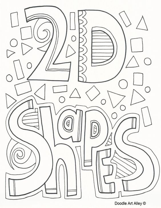 2D shapes - individual pages for circle, diamond, pentagon ...