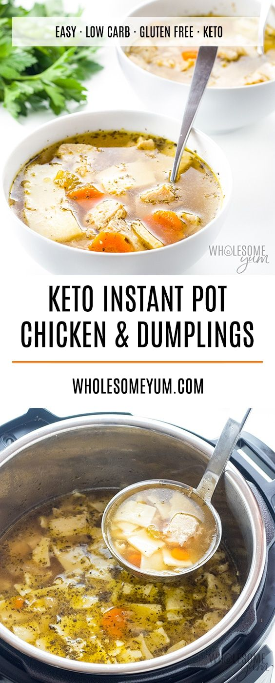 Keto Low Carb Gluten Free Chicken And Dumplings Recipe Low Carb