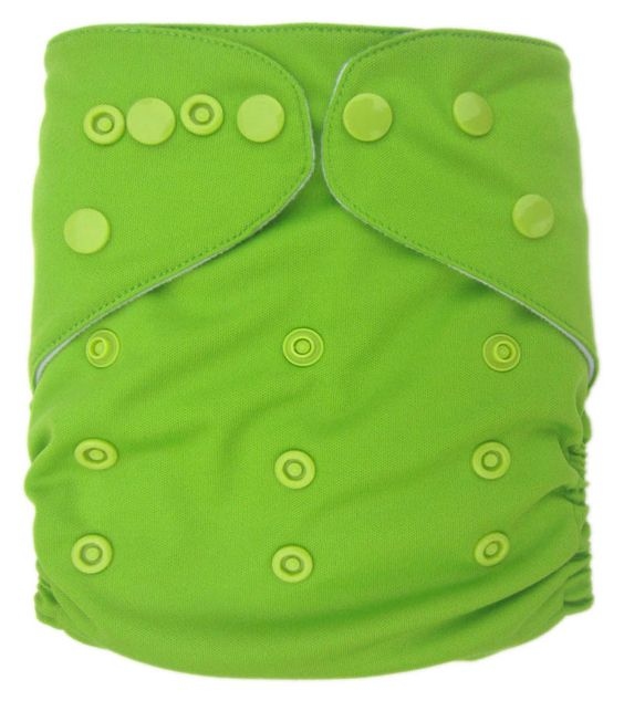 Plain green pocket cloth diaper $4.70