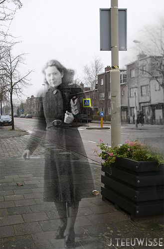 Ghosts of War - Haarlem The Netherlands; Hannie Schaft, Dutch communist resistance fighter during World War II. 16 September 1920 – 17 April 1945.