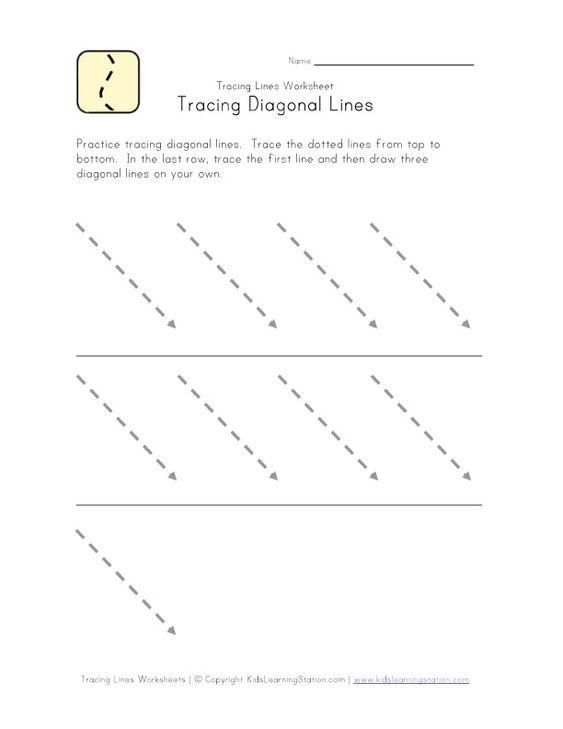 Tracing Slanted Lines School Fun Pinterest