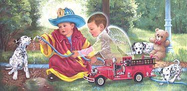 Lil Fireman Angel by Barbara Hails