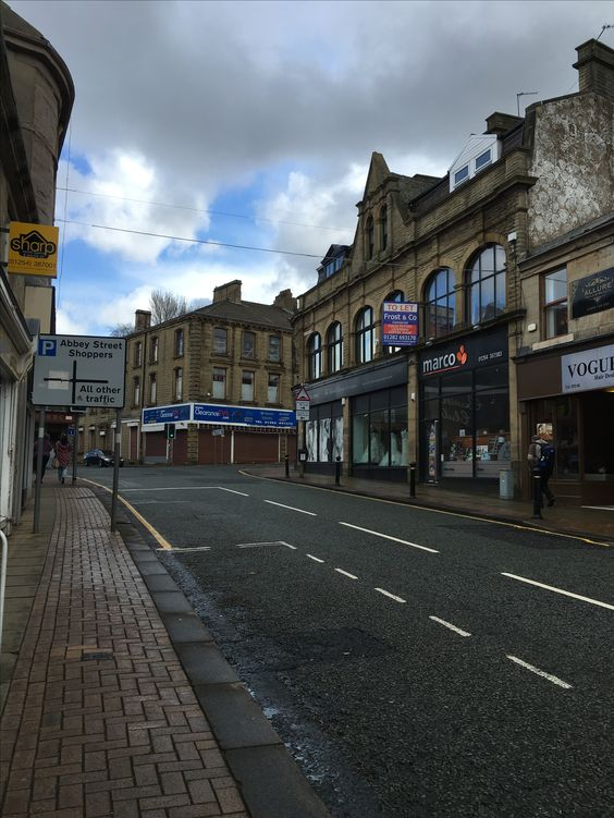 Street view of Blackburn Road in Accrington