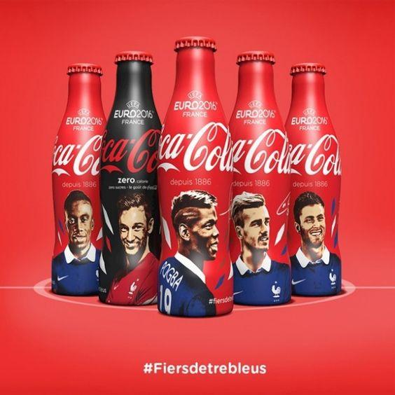 11 bouteilles collector aux couleurs de l'equipe de France de football   Coca-Cola France