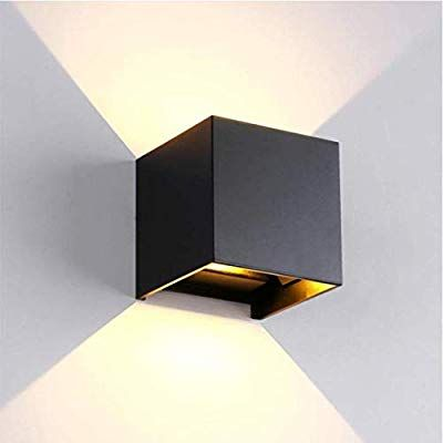 Divolight 6w Led Wall Light Cube Modern 4000k Natural White Up And Down Indoor Lamp Ip65 Outdoor Indoor Bedroo In 2020 Wall Lamps Bedroom Led Wall Lights Led Wall Lamp