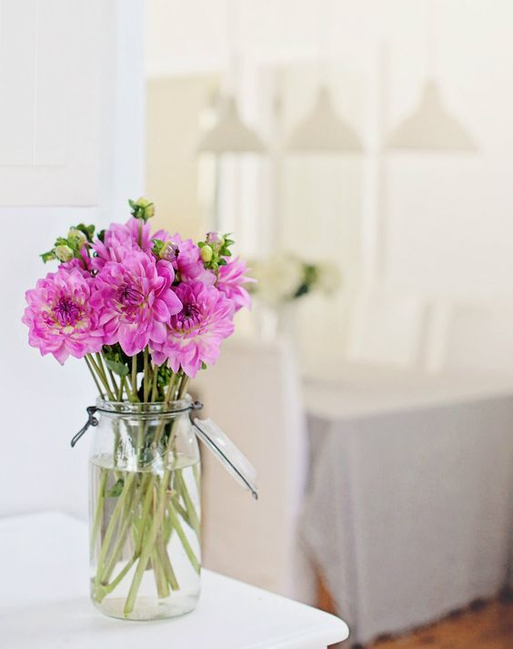 Pink Flowers #interiors #decor #flowers #pretty #home