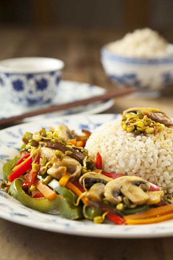 Mis Recetas Anticáncer: Arroz integral con verduras al vapor y salsa asiática