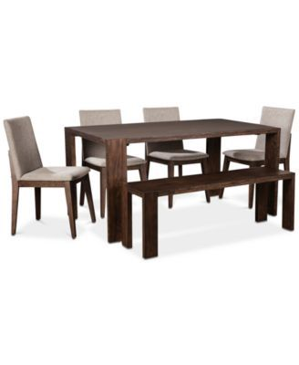 Super Crosby Dining Furniture 6 Pc Set Table 4 Upholstered Pdpeps Interior Chair Design Pdpepsorg