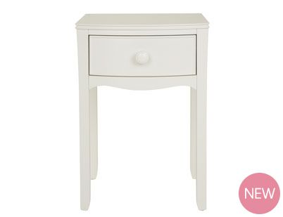 Broughton Ivory 1 Drawer Bedside Table