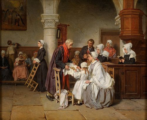 Alexandre Marie Guillemin - In the Church of Fontainebleau
