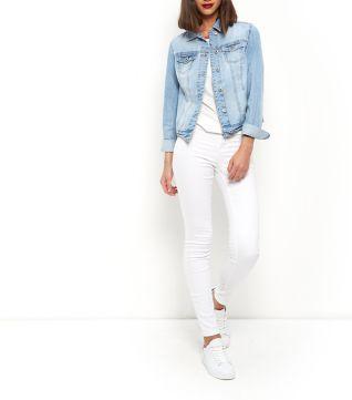 Pale Blue Denim Jacket | C L O T H E S | Pinterest | Coats, Shops ...