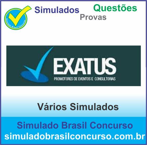 Concurso da Banca Exatus 2014.  Novos Simulados e Questões da Exatus 2014.  http://simuladobrasilconcurso.com.br/simulados/concursos/?filtro_banca=1384  #SimuladoBrasilConcurso, #ProvaExatus