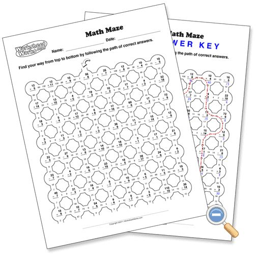 math worksheet : math maze  worksheetworks education  pinterest  maze  : Worksheet Works Math