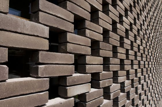 Facing brick septem 8025 design vk group claustra - Claustra design exterieur ...