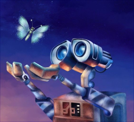 Butterfly and Wall-e