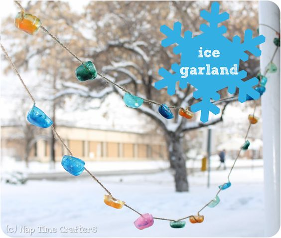 Nap Time Crafters: Ice Garland Tutorial