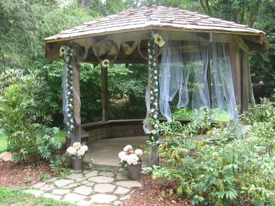 The Gazebo At The Asheville Botanical Gardens Decorated For A Wedding. |  Asheville Wedding Venues | Pinterest | Asheville, Wedding Venues And  Weddings
