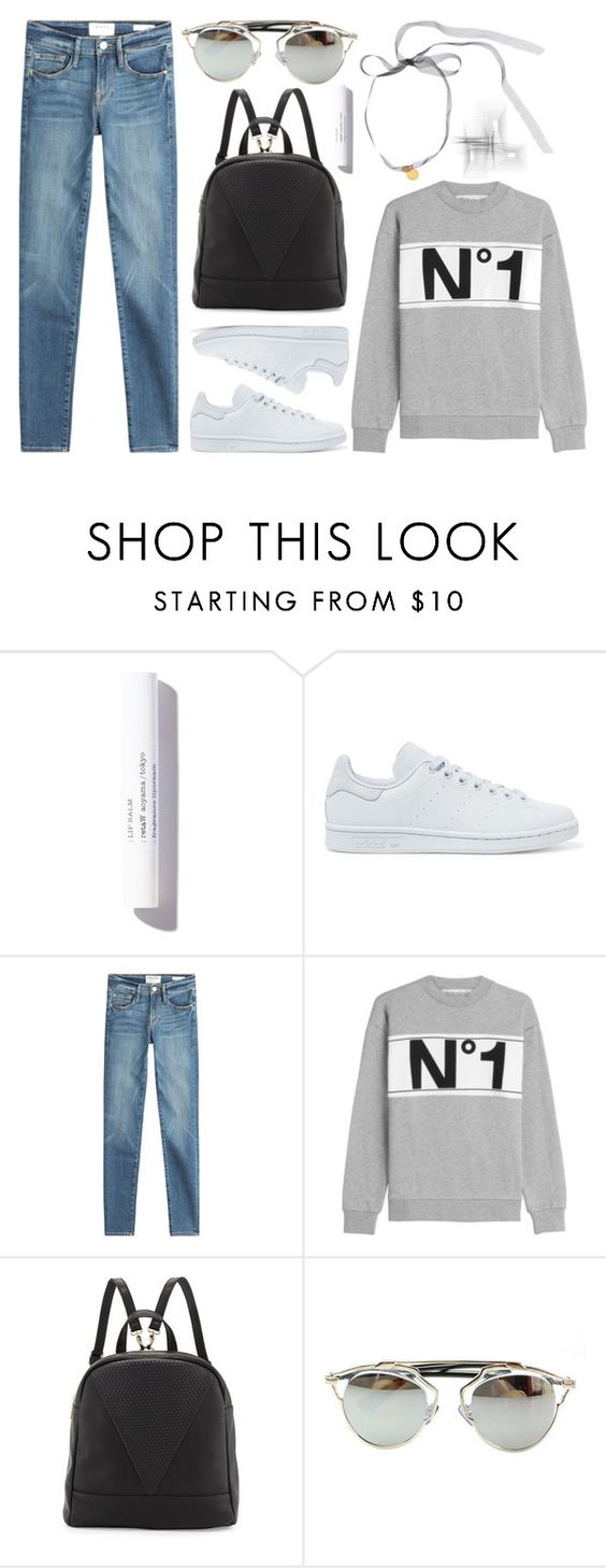 """""""Sneakers"""" by cherieaustin on Polyvore featuring Schumacher, adidas Originals, Frame Denim, Être Cécile, Poverty Flats, Chicnova Fashion and Erickson Beamon"""