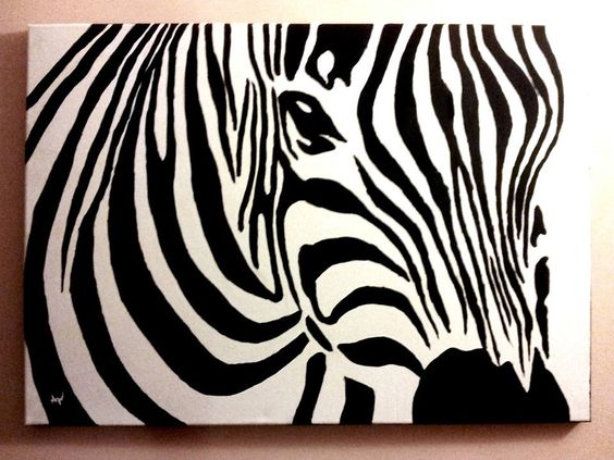 Zebra canvas acrylic painting by PatrissaArt.deviantart.com on ...