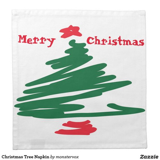 Christmas Tree Napkin   #ChristmasTree #MerryChristmas #Christmas #Holiday #Napkin #Cloth