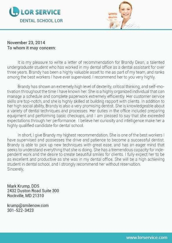 Sample Recommendation Letter From Shadowing Dentist Beautiful Of L Dental School Examples Endodontic Personal Statement