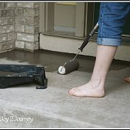 Stain your concrete walkways for a huge change and curb appeal. Used Dutch Boy Concrete Stain  |Hometalk