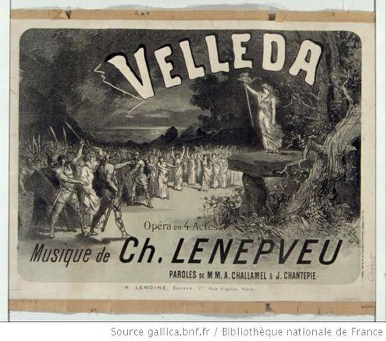Velleda, opéra en 4 actes, musique de Ch. Lenepveu : [affiche] / [Jules Chéret] - 1