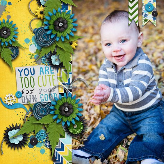 Digital Scrapbook Page by Britt | Hey There Handsome by Bella Gypsy