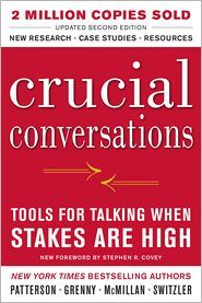 "A very engaging, fun to read book that promises to help with ""crucial conversations"" at home or work.  Especially in the education career!"