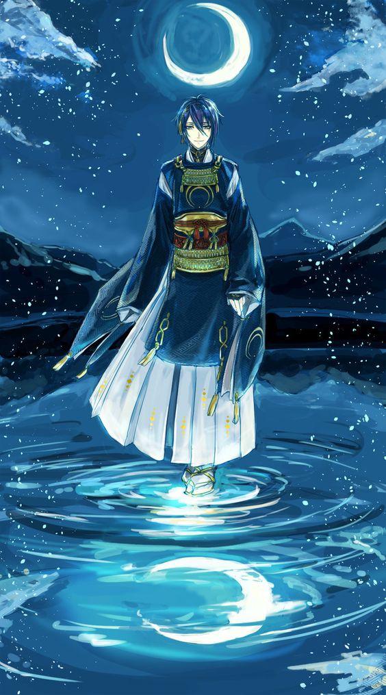 水の上に立っている刀剣乱舞