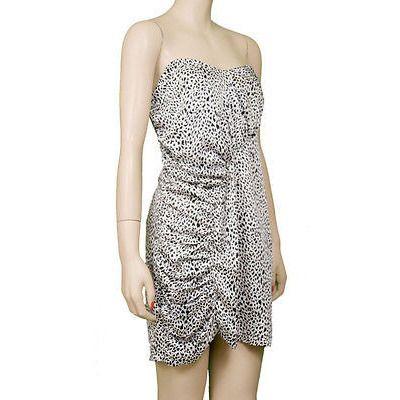 Audrey Leopard Tube Eve Womens Dresses Multi Size L ~