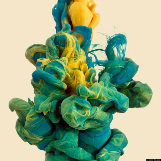alberto seveso - ink in water, huffington post  |  These are incredible! Just gorgeous!
