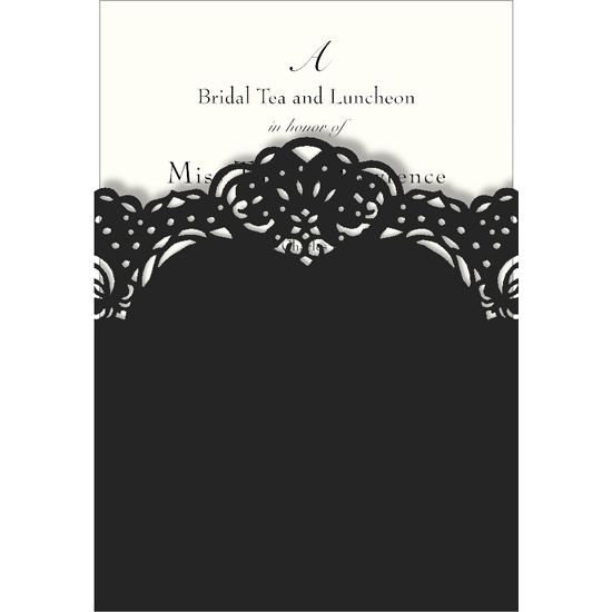 Black Lasercut Imprintable Invitations, Box of 8 [GS0233302] - $22.99 : DIGS, Free shipping on orders over fifty dollars. :: modern furniture, housewares, decor and gift items.